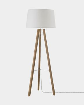 Εικόνα της Wooden Tripod Floor Lamp